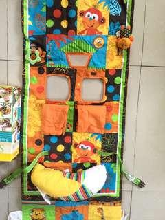 Grocery cart cover/high chair cover/playmat