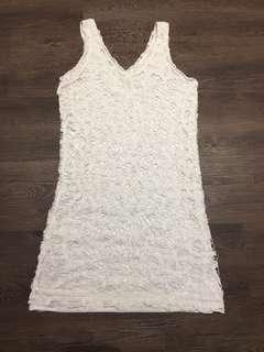 Ohvola off white crochet dress
