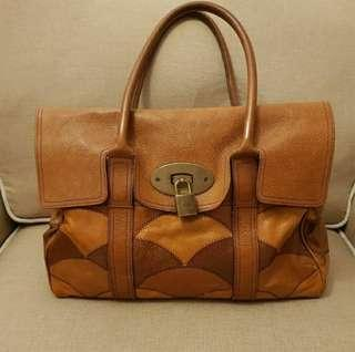 Preloved Authentic Mulberry Rio Patchwork Brown Leather Satchel