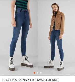 Bershka highwaist skinny jeans