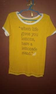 Mudd Girls Lemonade Tee size10