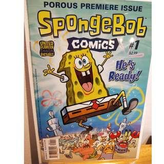 SPONGEBOB SQUAREPANTS COMICS # 1 First Issue RARE 2011 VF+/ NM-