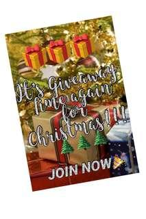 Giveaway this Christmas