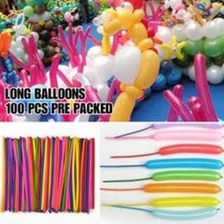Long Balloons (Assorted Colors)