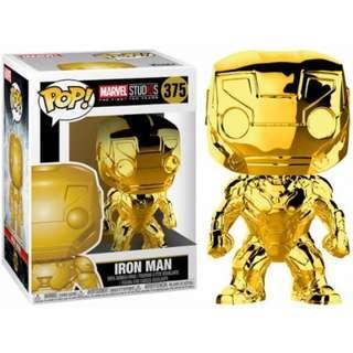 Funko Pop Marvel: Marvel Studios 10 - Iron Man (Gold Chrome) Collectible Figure
