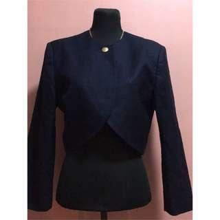 💎Hanae Mori School Sienne Classy Royal Blue Coat/Cardigan💎