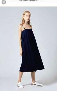 Osn our second nature cotton tent dress navy xs