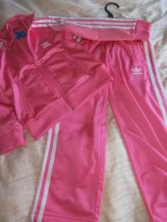 Adidas Kids Pink Track suit