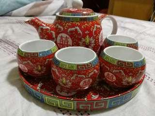敬茶茶杯茶壺套裝 Chinese Wedding