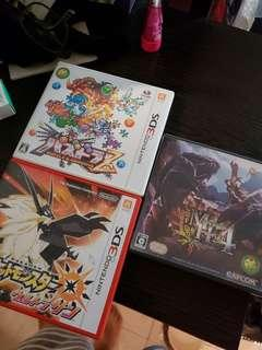 3ds game MH4 , pokemon 太陽 , P&D