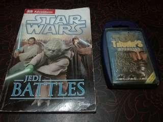 Star wars jedi battles and THE Lord of the rings trumps cards