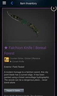 CSGO Falchion Knife Boreal Forest (FT)