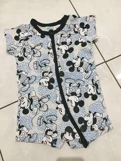 PRELOVED : Disney Mickey Romper (3-6m) upto 8kg ORIGINAL TARGET AUSSIE
