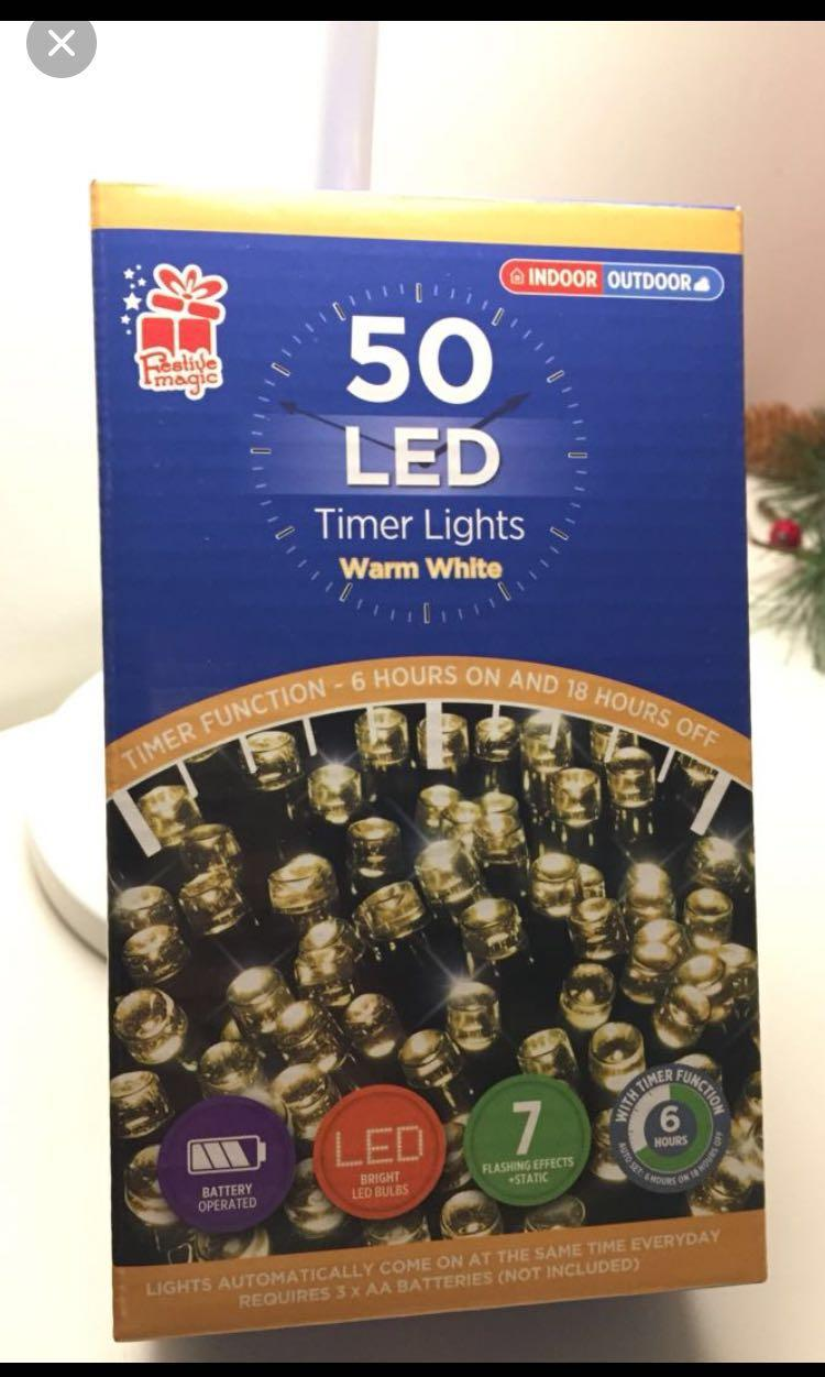 50 christmas lights battery operated