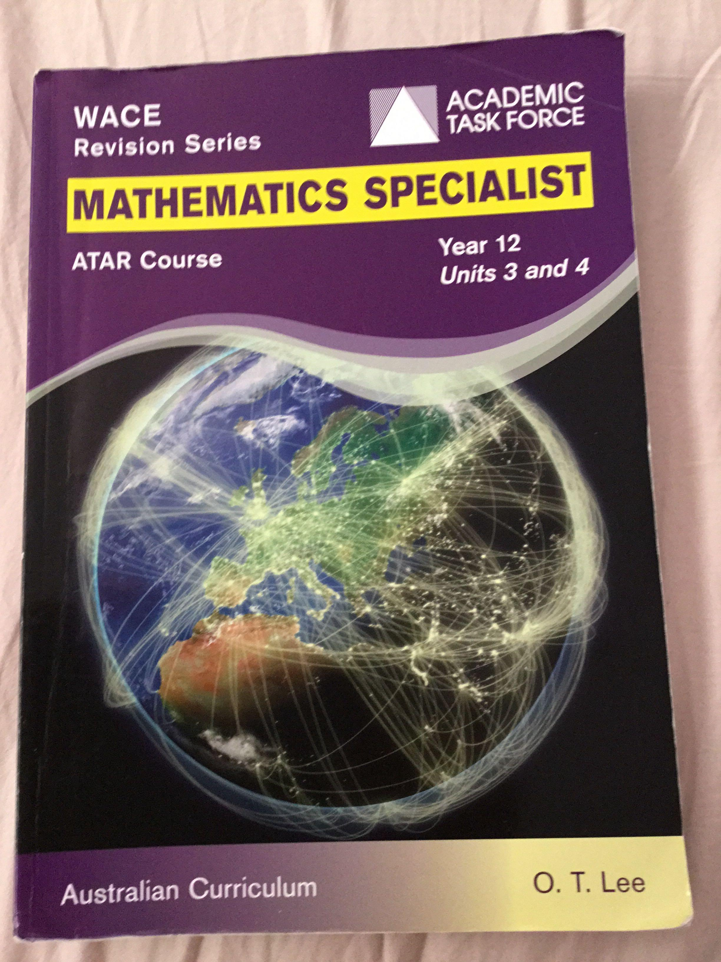 Academic task force wace revision series year 12 maths specialist