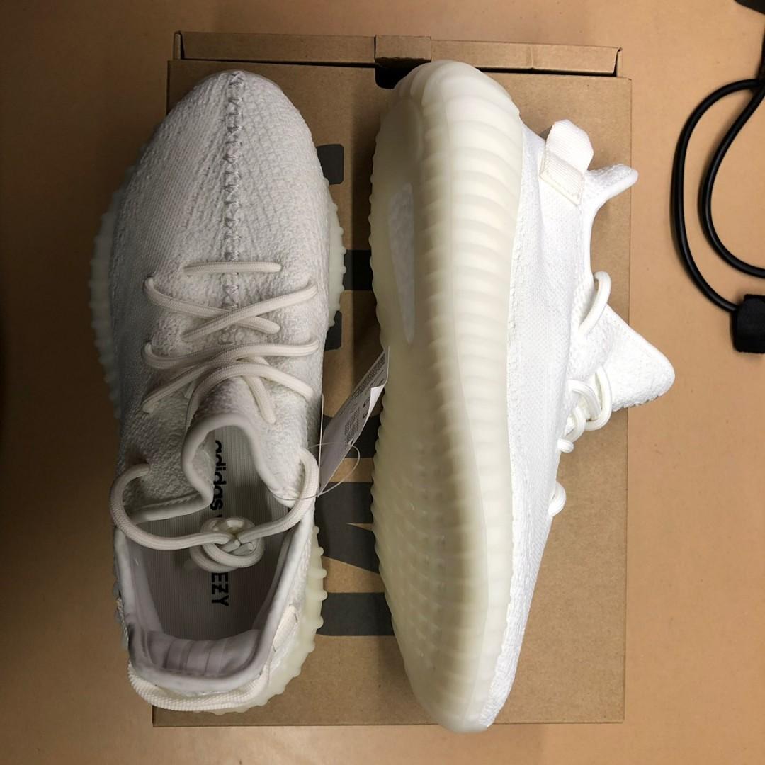 new style 31816 ac914 Adidas Kanye Yeezy 350 V2 Cream White   Triple White, Men s Fashion ...
