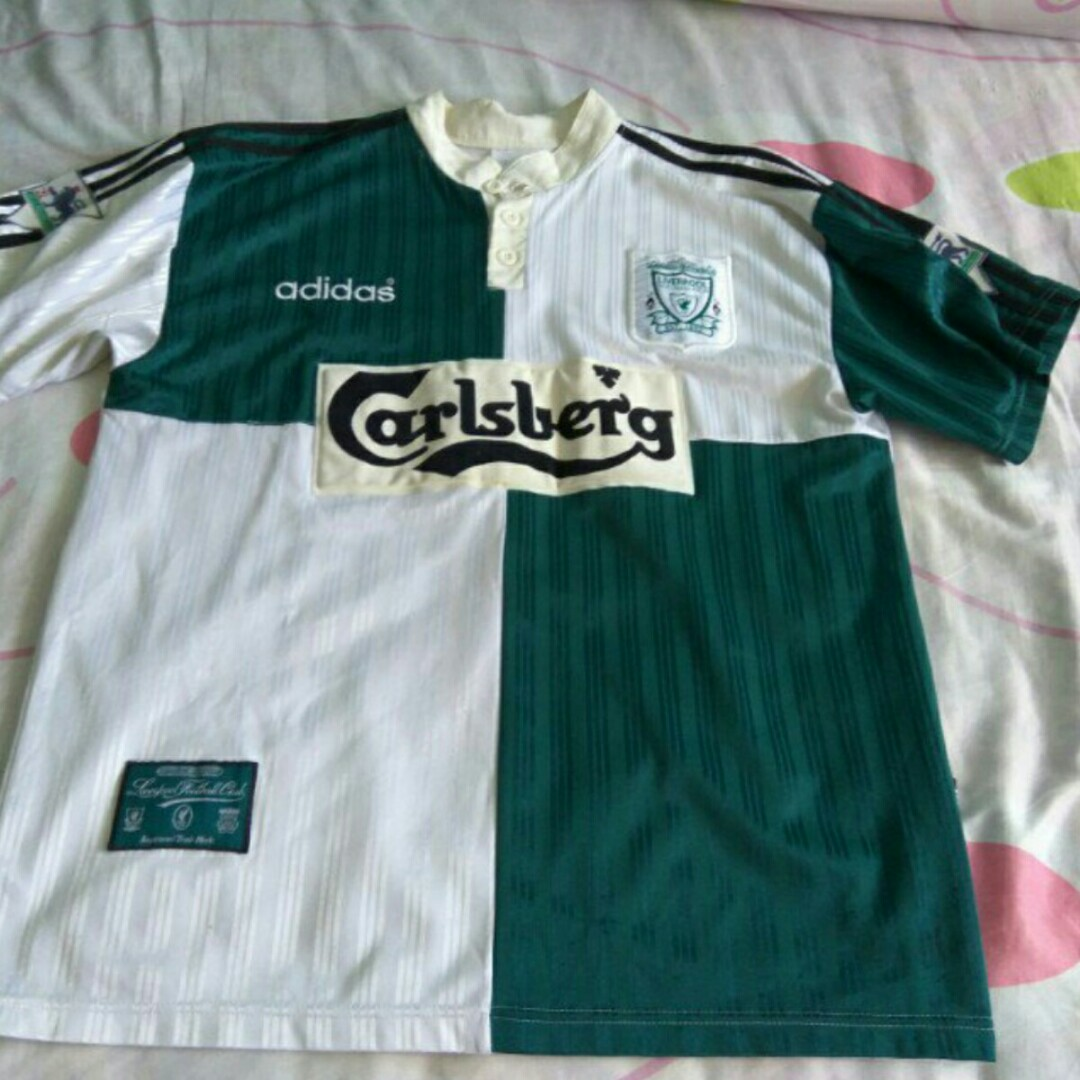 1c8a3750 Authentic adidas liverpool 1995-96 away kit size L, Sports, Sports Apparel  on Carousell