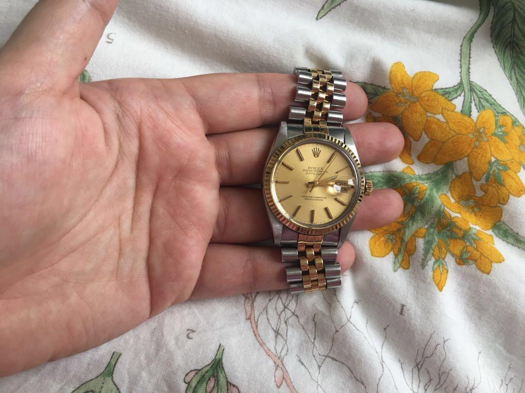 AUTHENTIC Rolex MENS Two Tone Yellow Gold and Steel 80's-90's