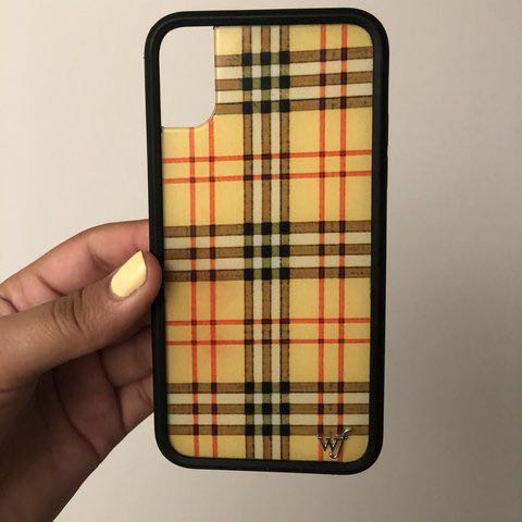 huge discount 656ee ab0a7 AUTHENTIC WILDFLOWER YELLOW PLAID CASE