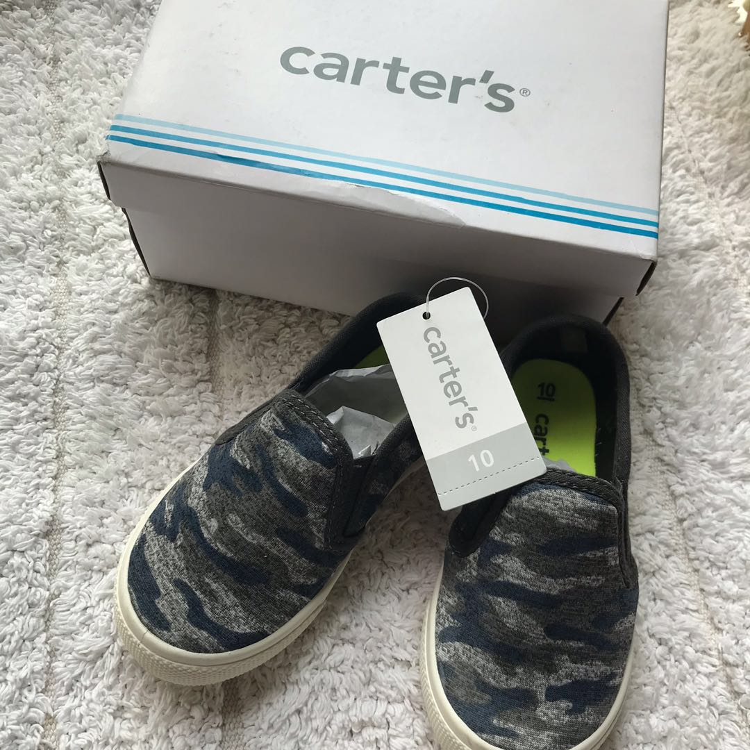 8a126098ac1c BN Carters Toddler Boy Camo Loafers Slip ons Shoes US9   US10! 3-5 ...