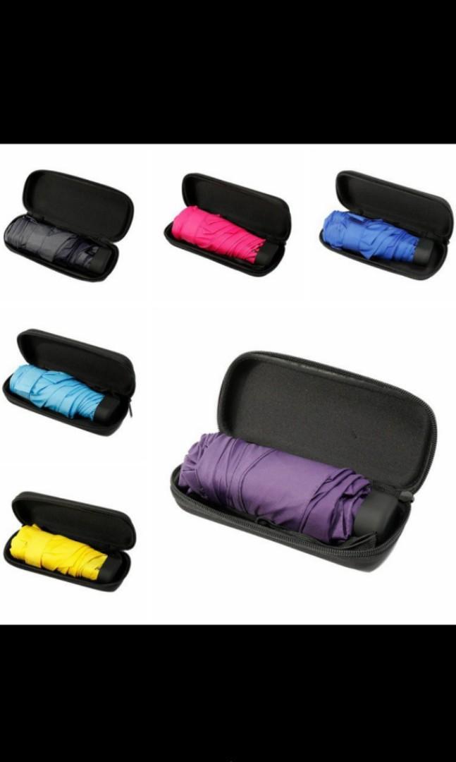 Capsule mini pocket folding umbrella