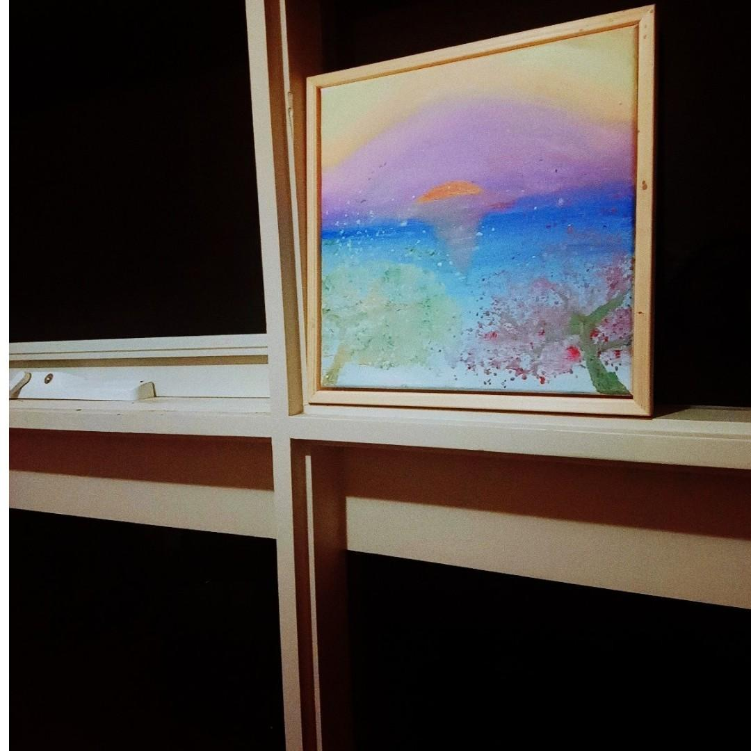 Dream a Romantic Blessing (Framed Acrylic Painting)