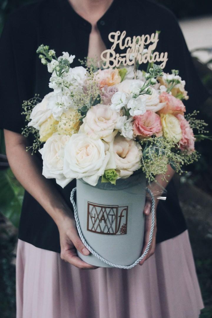 Flower Birthday Box Includes Free Happy Stencil
