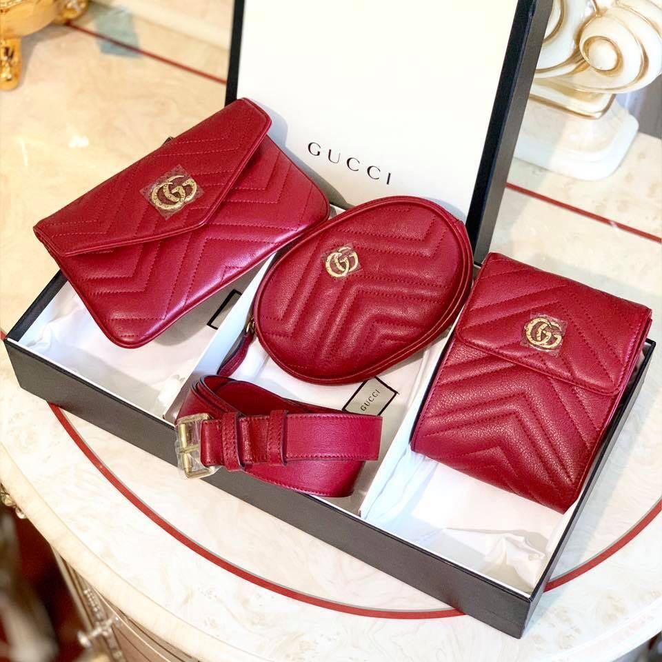 869a6eaae8c GG Marmont Matelasse Multi Pocket Belt Bag