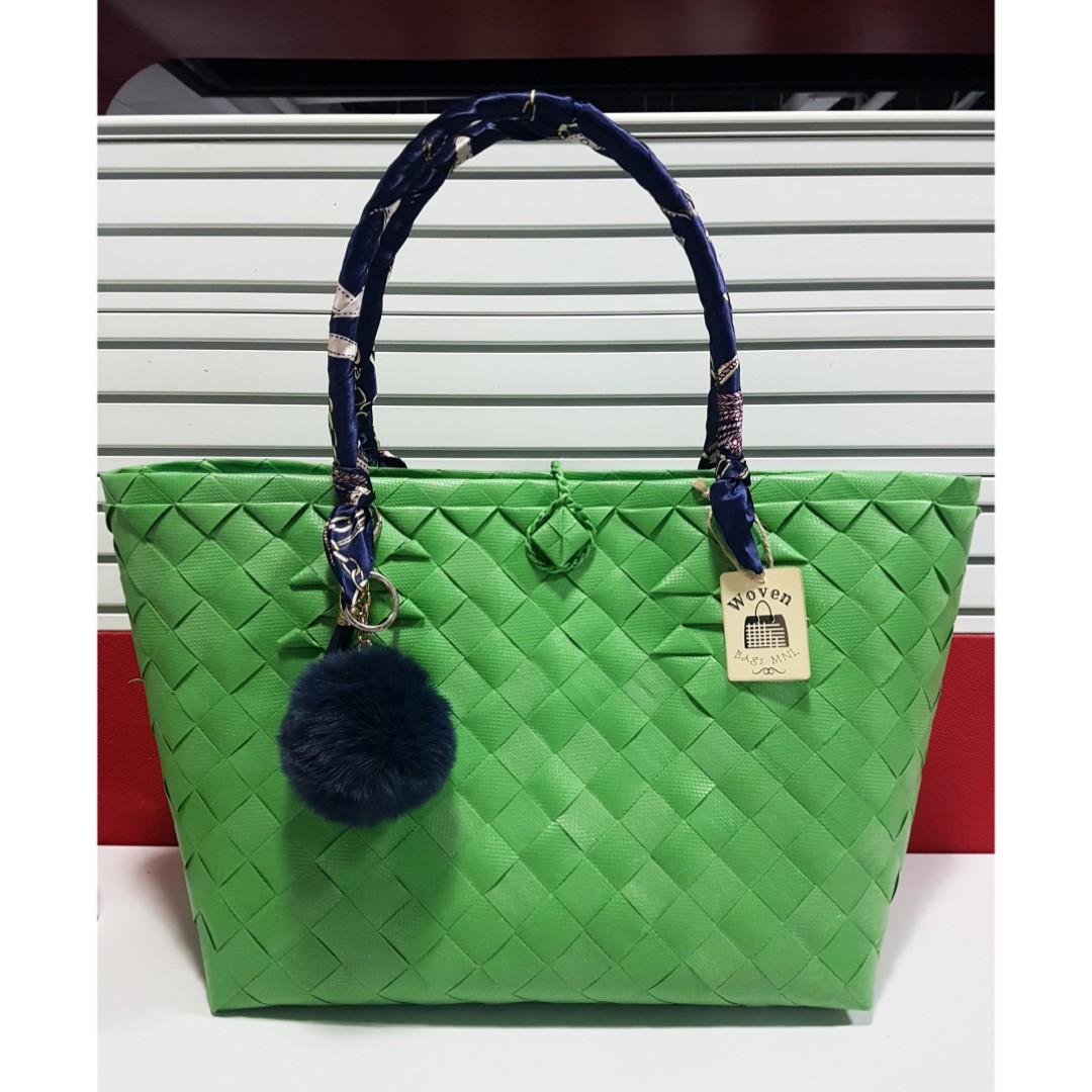 b9c4558596e7 Green Bayong Bag