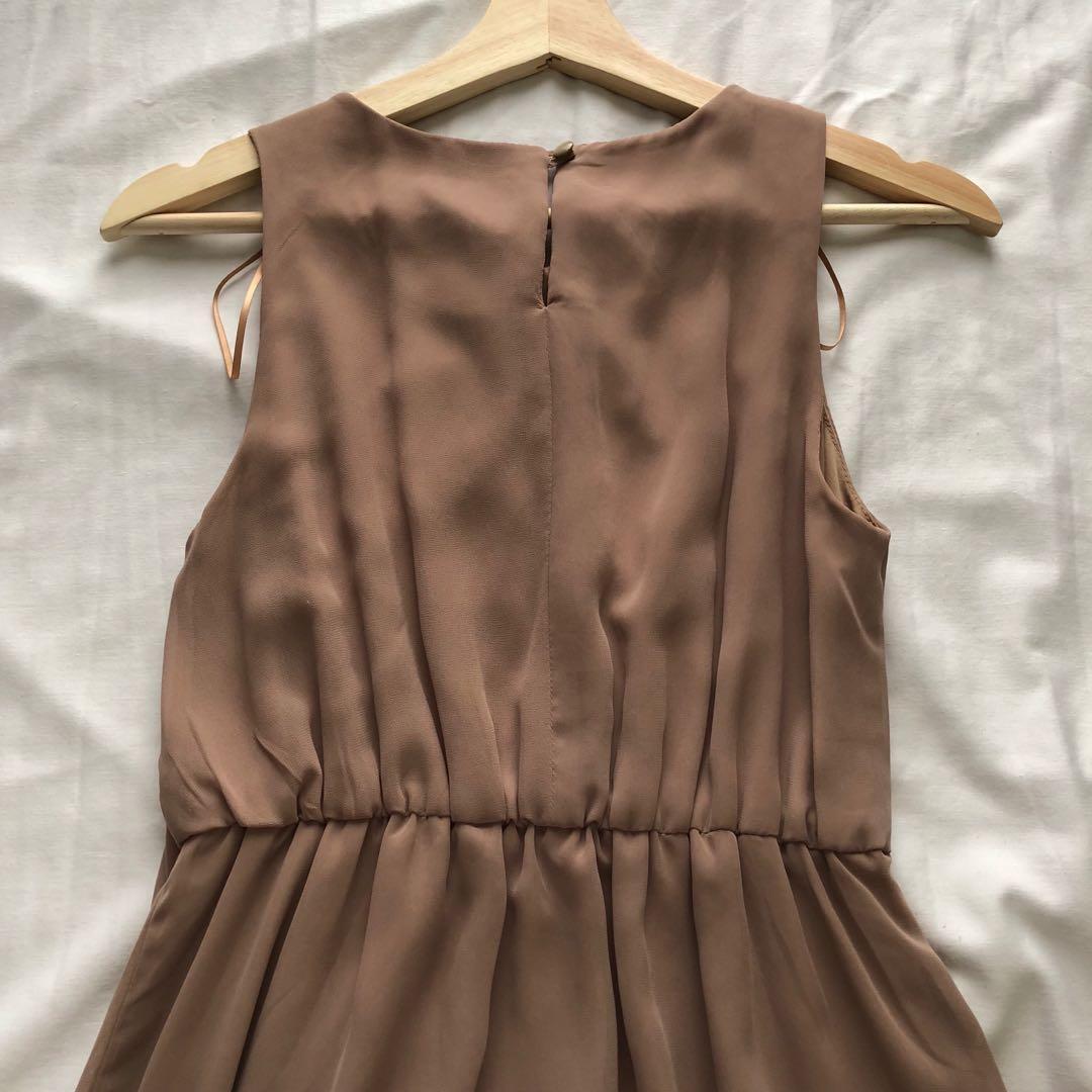 H&M Light Tan Dress (Size 4, Fits like XS)