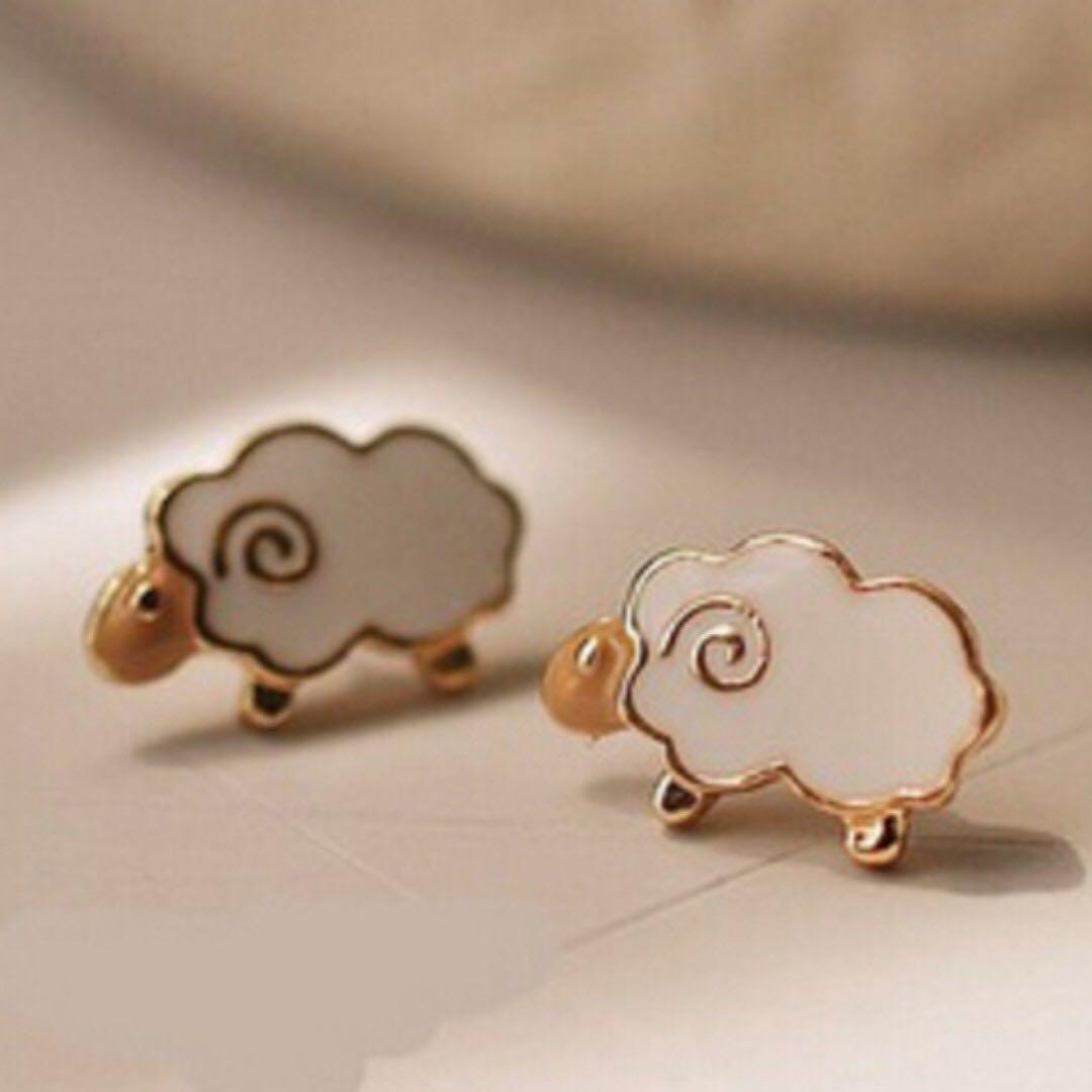Kawaii Cute Sheep Ear Studs Earrings - New