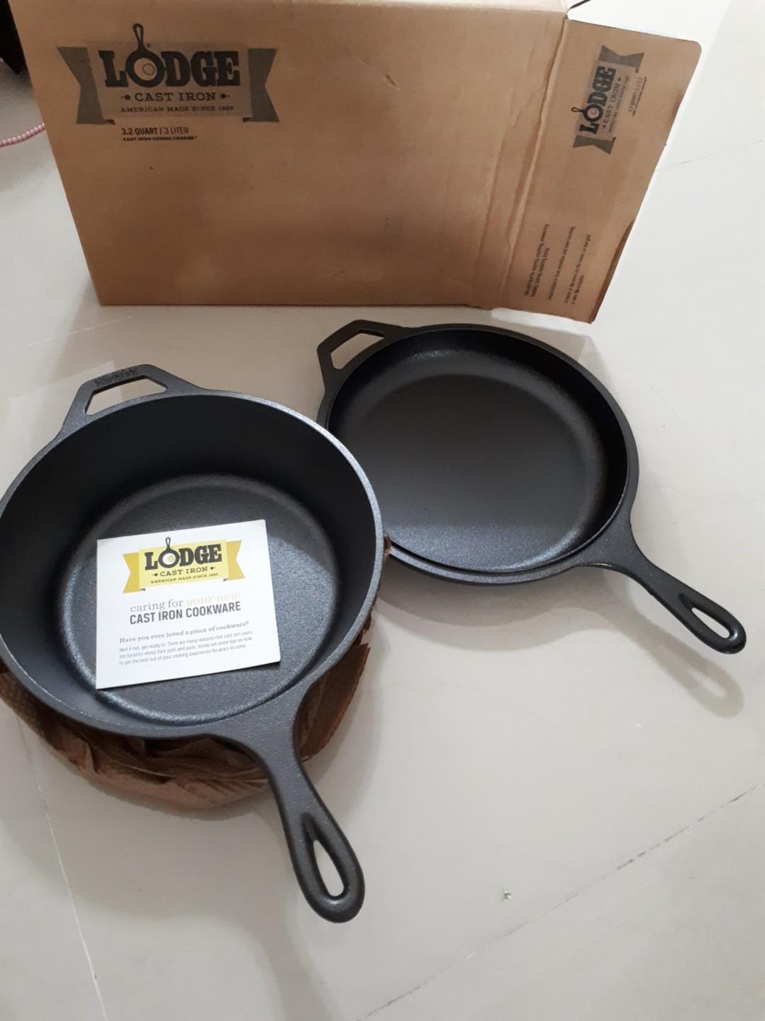 lodge cast iron combo cooker skillet