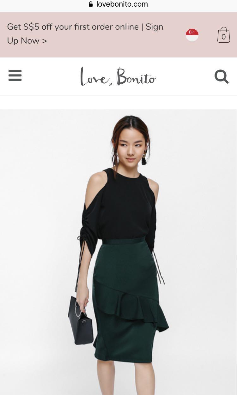 54f90d5ed Womens Pencil Skirt Black