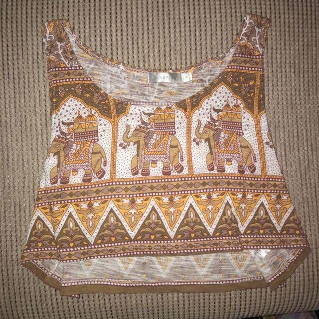 Minkpink patterned crop size S never worn