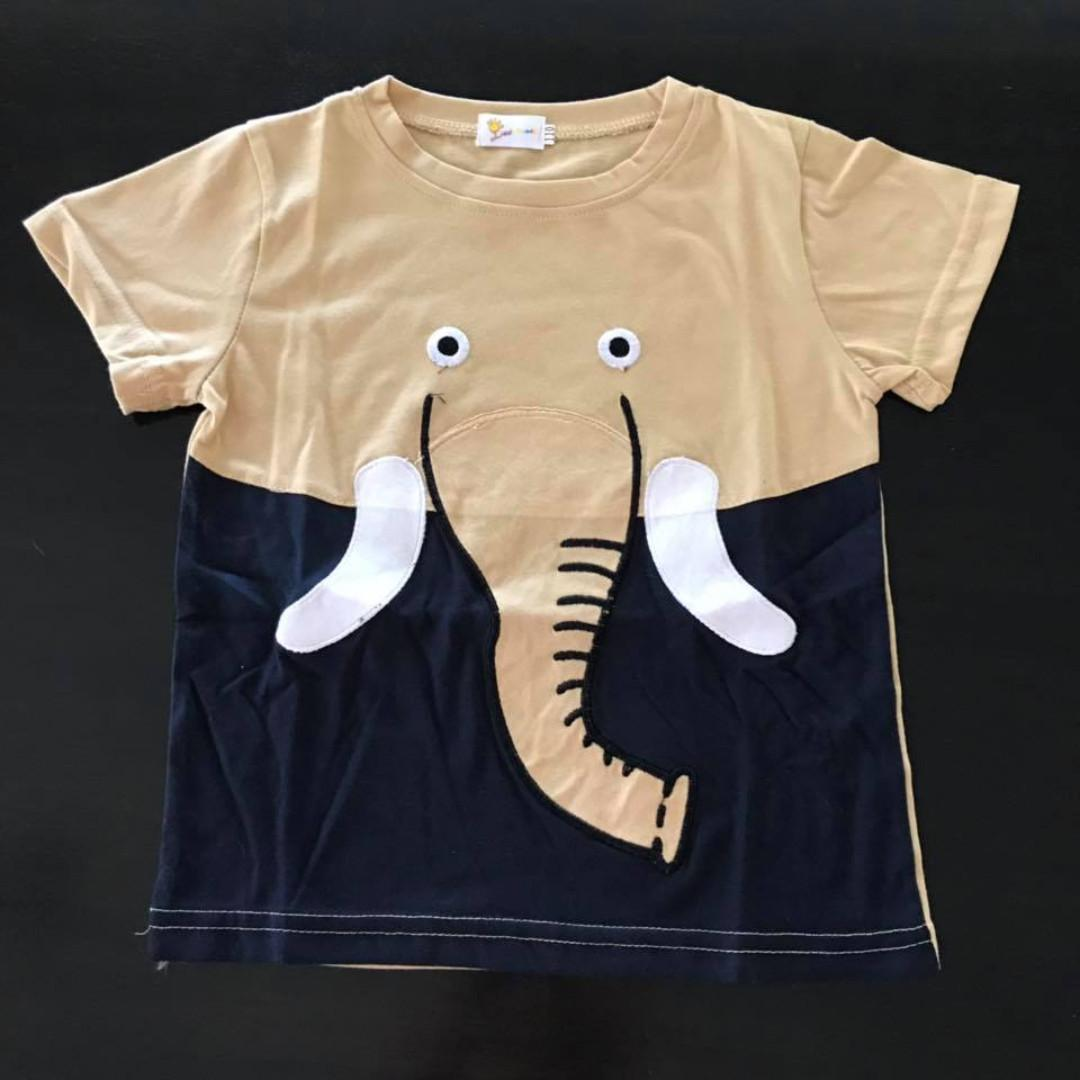 New in packet Size 3 4 Elephant print tshirt