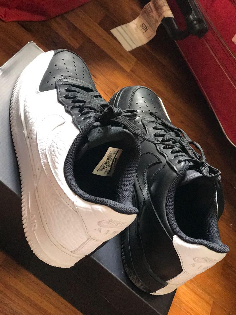 finest selection c1ebc f618d Nike Air Force 1  07 PRM (Black-White), Men s Fashion, Footwear ...
