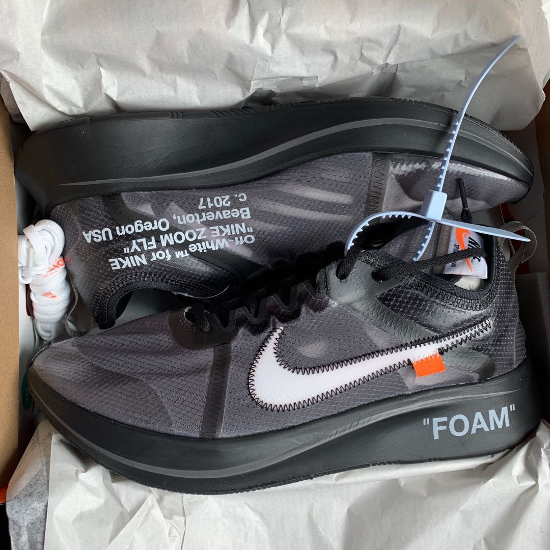 3354d3e6 Nike Zoom fly Off white US12, Men's Fashion, Footwear, Sneakers on Carousell