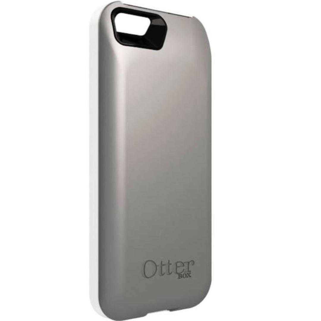 size 40 a2f72 c8d2e Otterbox Resurgence Power Battery Case iPhone 5 5s White Gray on ...