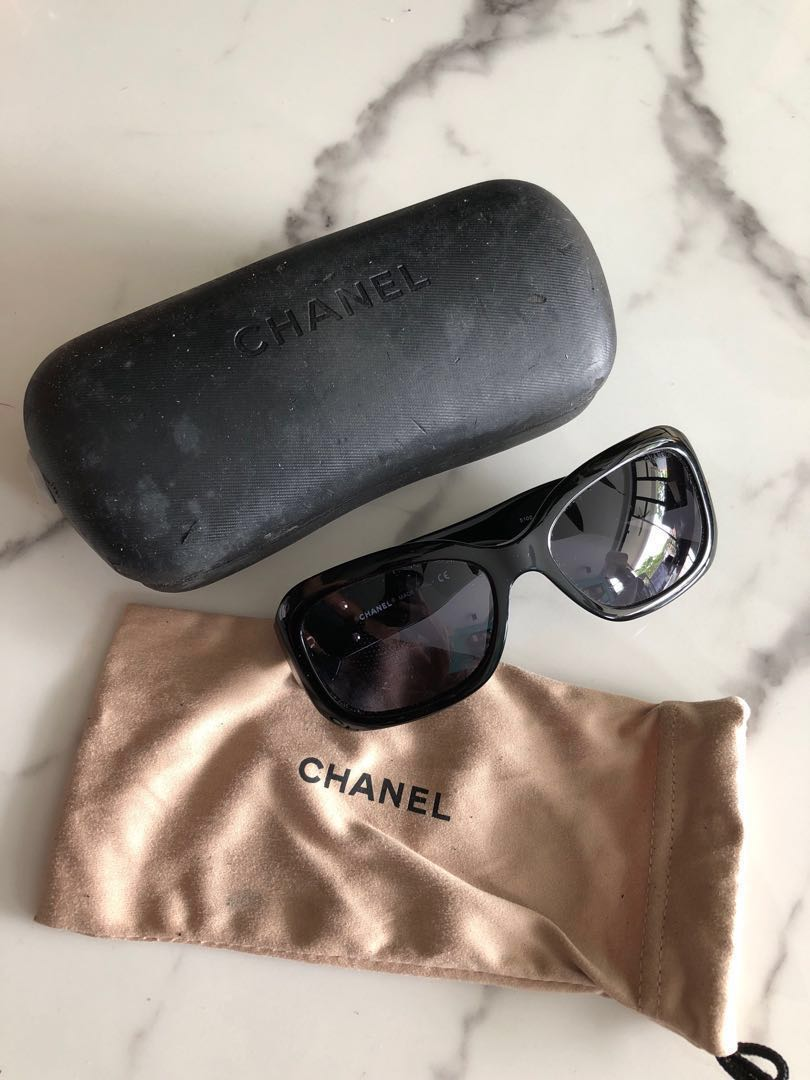 572a536a71f PRICE DROP Authentic Chanel Sunglasses black