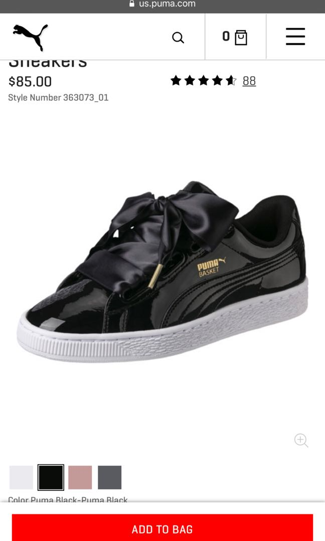 dd5323d1006 Puma Basket Heart Patent, Women's Fashion, Shoes, Sneakers on Carousell