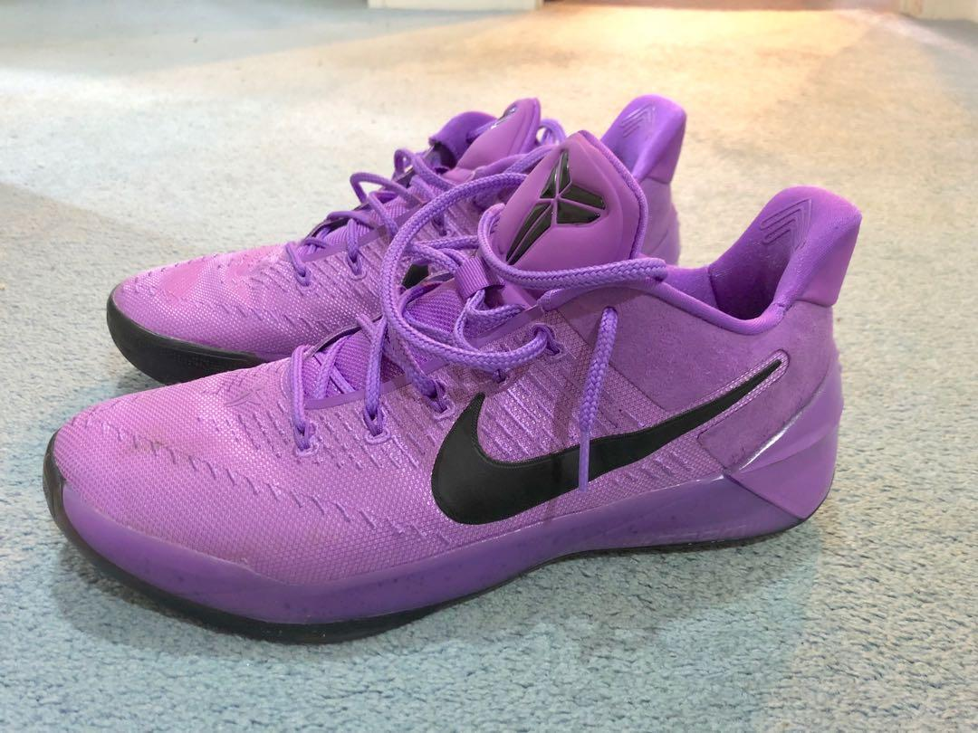 Purple nike shoes