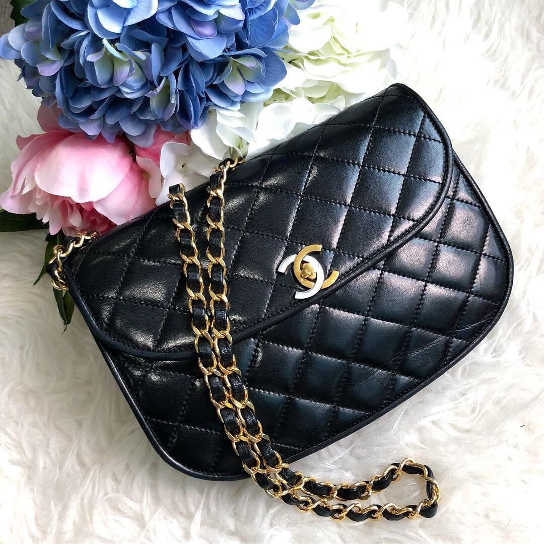 ede87936cd872c ❌SOLD!❌ Rare and Beautiful!🖤 Chanel Vintage Small Round Flap in ...