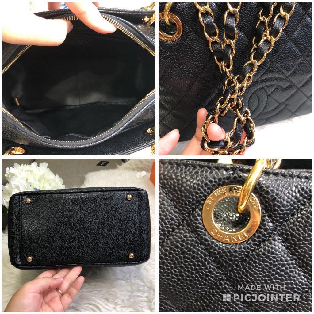 ba3ee24e20ca ❌SOLD!❌ Super rare!🖤 Very Good Condition Chanel PTT in black caviar GHW