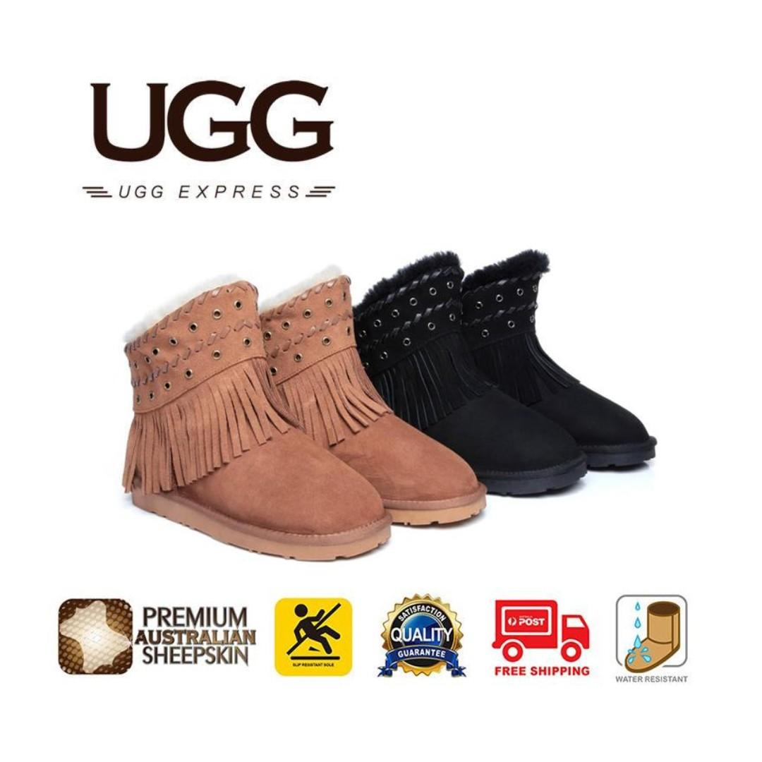 b95bf658201 UGG Ladies Fashion Ankle Boots Trinity - Australian Double Face ...