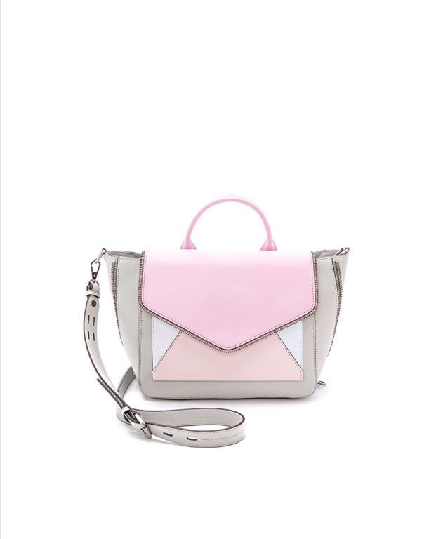 7d80fd73df Work bag Rebecca minkoff pink grey colour block bag, Women's Fashion ...