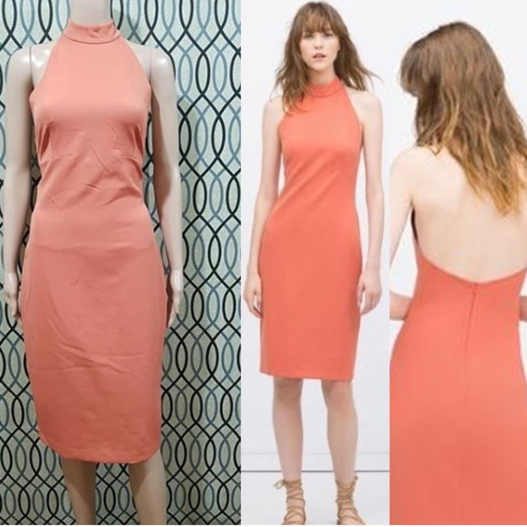 5b3a914c Zara Halter Neck Dress - with Tag, Women's Fashion, Clothes, Dresses ...