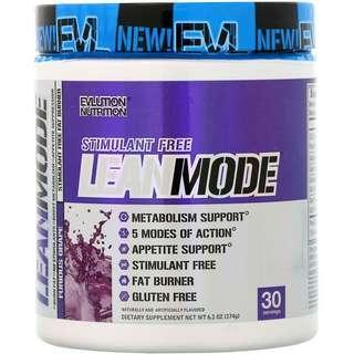EVLution Lean Mode Stimulant Free Fat Burner