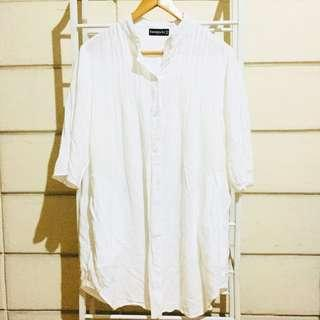 Cordelia St White Shirt Dress
