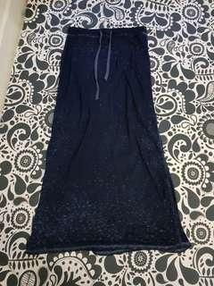 3 For $15 FREE MAIL! Cotton On Navy Blue Half Sheer Long Skirt