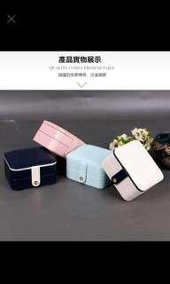 🚚 韓國皮革首飾盒 淺藍現貨便宜出清